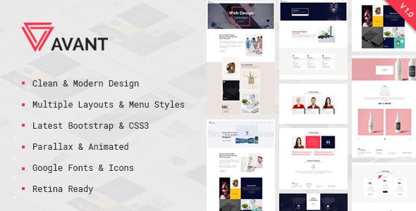 Avant — Creative & Parallax Multipurpose HTML