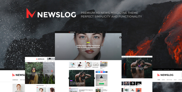 Newslog v1.1.0 — Clean News & Magazine WordPress Theme
