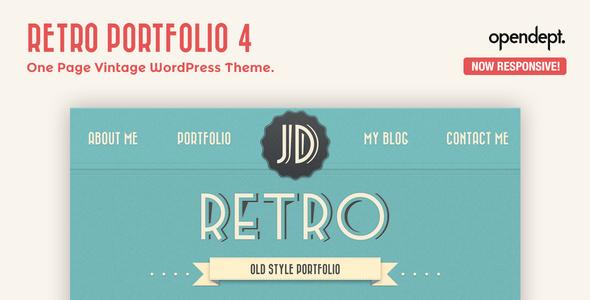 Retro Portfolio v4.9.2 — One Page Vintage WordPress Theme