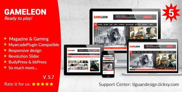 Gameleon v5.7 — WordPress Magazine & Arcade Theme