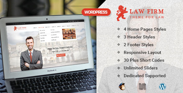 Law Firm v3.0.4 — WordPress Business Theme