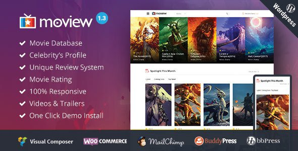 Moview v1.3 — Responsive Film/Video DB & Review Theme