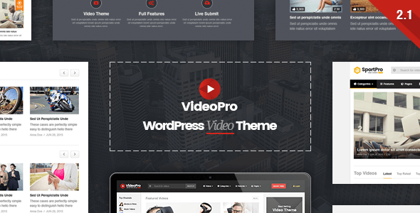 VideoPro v2.1.1 — Video WordPress Theme