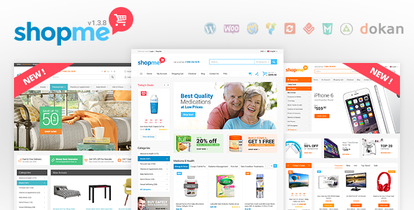 ShopMe v1.3.8 — Woocommerce WordPress Theme