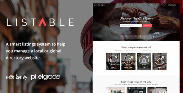 LISTABLE v1.8.9 — A Friendly Directory WordPress Theme