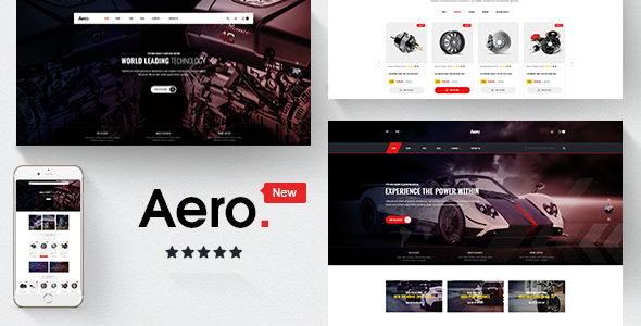 Aero — Car Accessories Responsive Prestashop 1.7 Theme