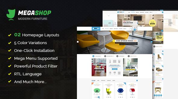 Megashop v1.2.0 — Responsive Multipurpose OpenCart Theme