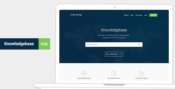 Knowledge — Knowledgebase & Documentation Template