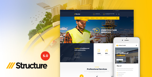 Structure v5.0.1 — Construction WordPress Theme