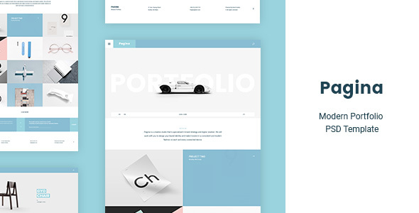 Pagina — Creative Portfolio PSD Template