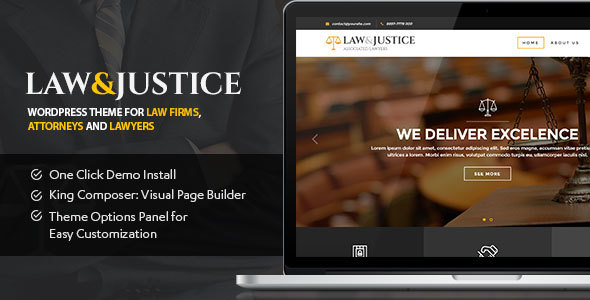 Law & Justice v1.1.5.3 — Law Firm, Lawyers & Attorneys Theme