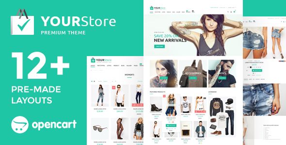 YourStore v2.3.0.4 — OpenCart theme
