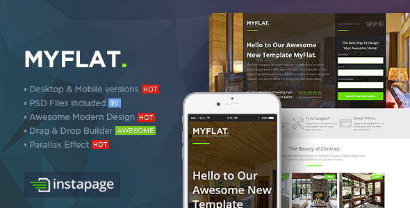 MYFLAT — Real Estate Instapage Template
