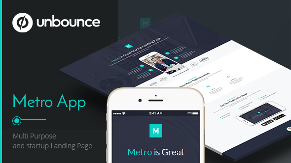 Metro App — Unbounce Landing Page