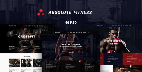 Absolute Fitness — PSD Template