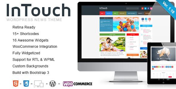 InTouch v1.18 — Themeforest Retina Responsive WP News Theme