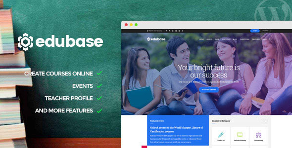 Edubase v1.4.2 — Course, Learning, Event WordPress Theme