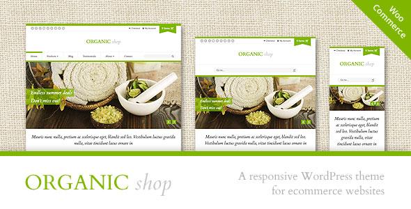 Organic Shop v2.7.4 — Responsive WooCommerce Theme