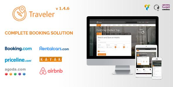 Traveler v1.4.6 — Travel/Tour/Booking WordPress Theme