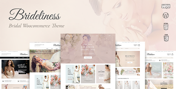 Brideliness v1.0.6 — Wedding Shop WordPress WooCommerce