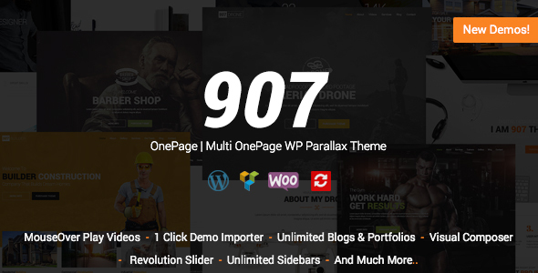 907 v4.0.27 — Responsive WP One Page