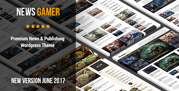 News Gamer v2.2 — Premium WordPress News / Publishing Theme