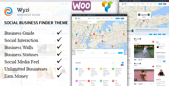WYZI v2.0.1 — Social Business Finder Directory Theme