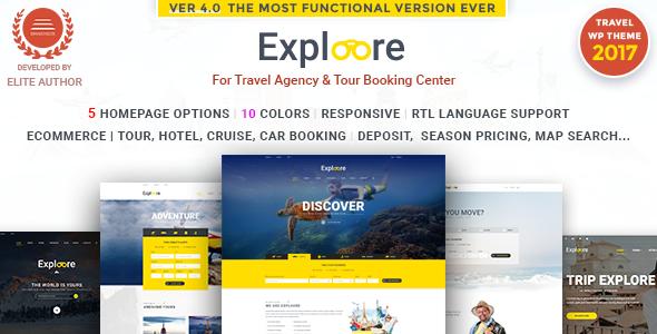 EXPLOORE v4.0 — Tour Booking Travel WordPress Theme