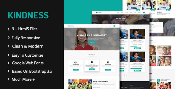 Kindness — Nonprofit, Crowdfunding & Charity HTML5 Template