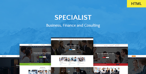 Specialist — Multipurpose Business & Financial, Consulting, Accounting, Broker HTML Templates
