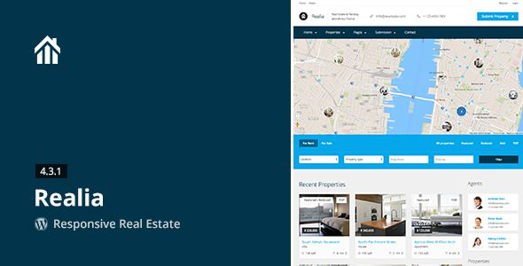 Realia v4.3.1 — Responsive Real Estate WordPress Theme