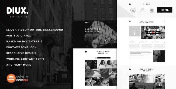 Diux — Responsive One Page Portfolio HTML Template