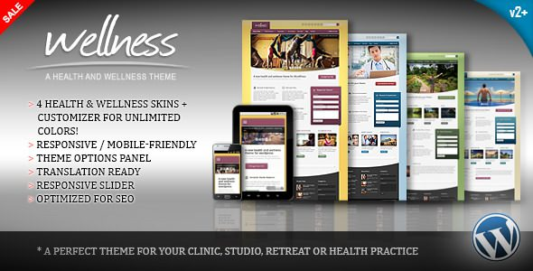 Wellness v2.0.1 — A Health & Wellness WordPress Theme
