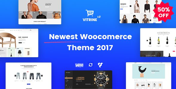 Vitrine v1.0.1 — WooCommerce WordPress Theme