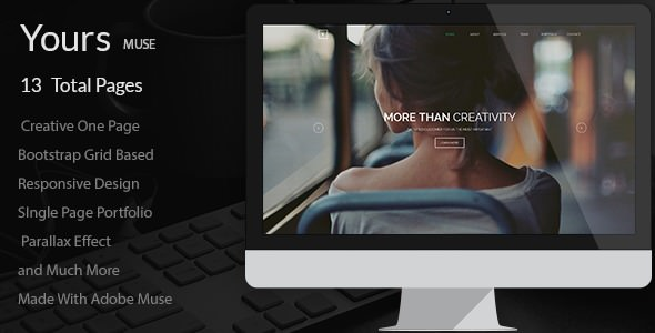 Yours — Creative Onepage Adobe Muse Template