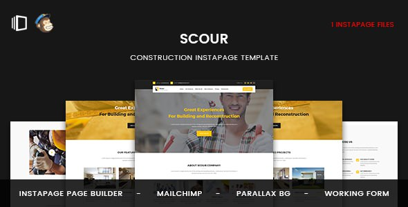 Scour — Construction Instapage Template