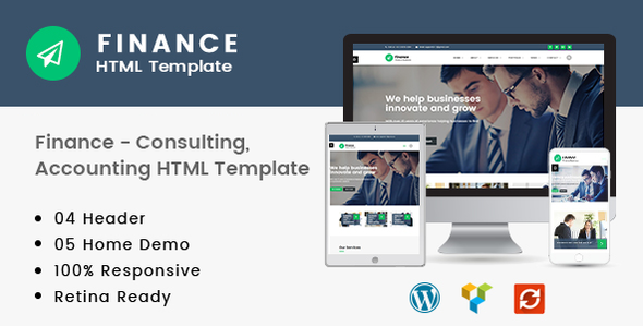 Finance — Consulting, Accounting HTML Template