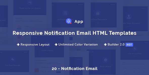 NotificationApp — Responsive Notification Email HTML Templates