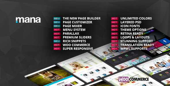 Mana v1.9.13 — Themeforest Responsive Multi-Purpose Theme