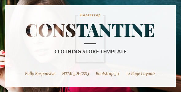 Constantine — Fashion Clothes Shop HTML Template