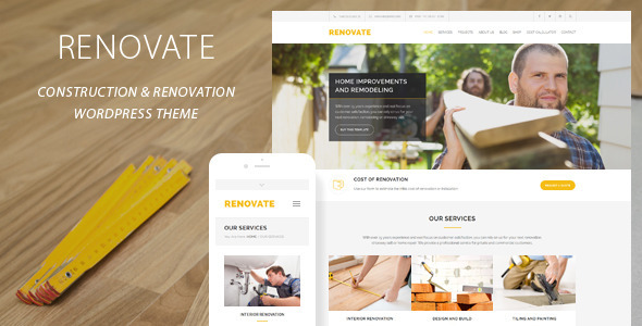 Renovate v3.8.1 — Construction Renovation WordPress Theme