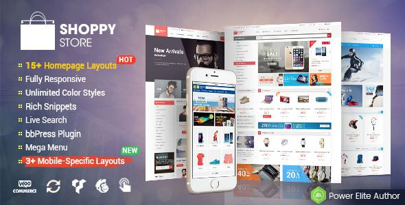 ShoppyStore v2.6.0 — WooCommerce WordPress Theme