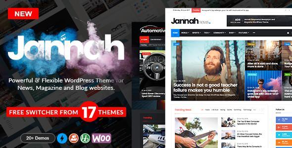 Jannah v1.1.1 — WordPress News Magazine Blog & BuddyPress