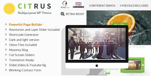 Citrus v2.1 — Creative One Page Multi-Purpose Theme