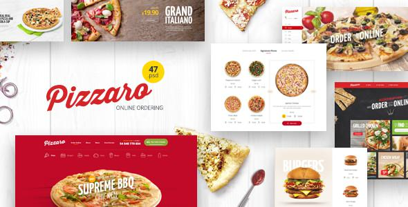 Pizzaro — Food Online Ordering eCommerce PSD
