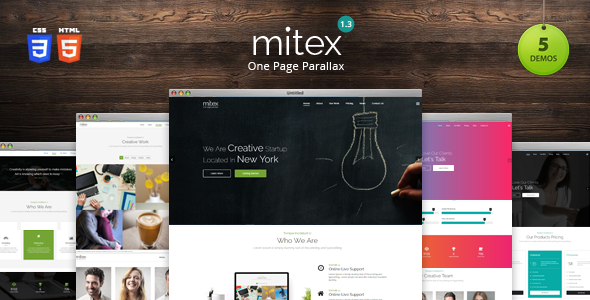 Mitex — One Page Parallax HTML Template