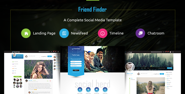 Friend Finder — A Social Network HTML5 Template