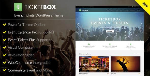 TicketBox v1.1.5 — Event Tickets WordPress Theme