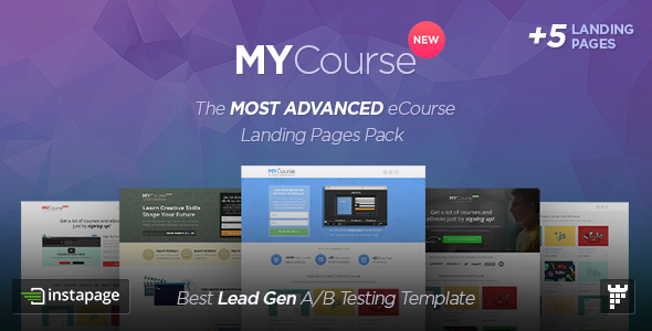 MYCourse — Instapage eCourse Landing pages Pack