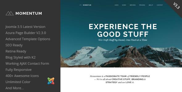 Momentum v3.3 — Simple Creative OnePage Joomla Template